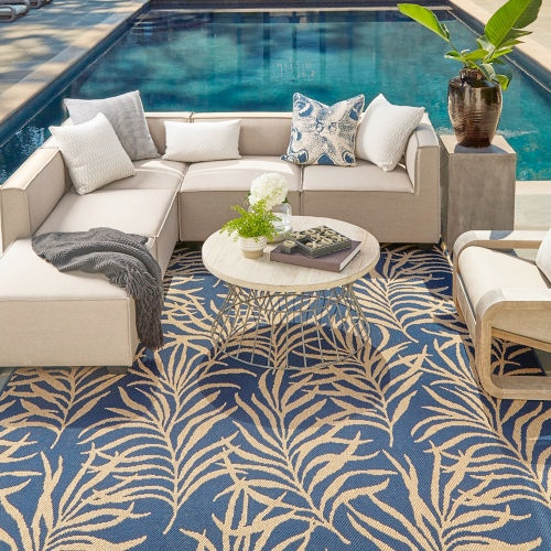 Area rug near swimming pool | Chillicothe Carpet