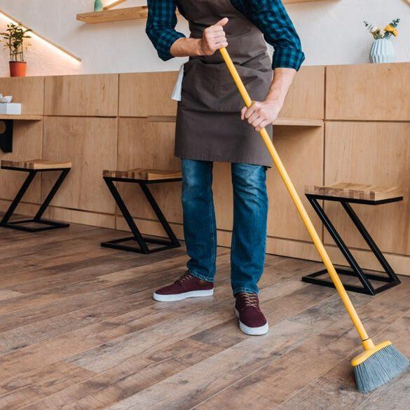 Sweep hardwood floor | Chillicothe Carpet